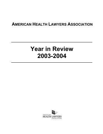 Microsoft Word - Cover.DOC - American Health Lawyers Association
