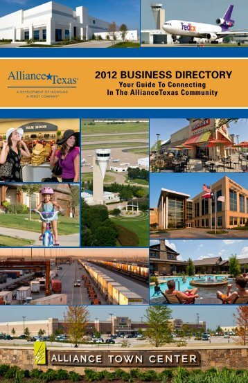 2012 BUSINESS DIRECTORY - AllianceTexas