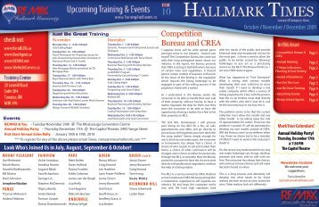 Competition Bureau and CREA - RE/MAX Hallmark Realty