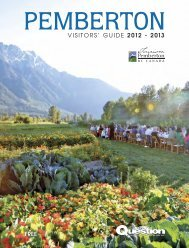 Free Visitors' Guide 2012 - 2013 - Tourism Pemberton