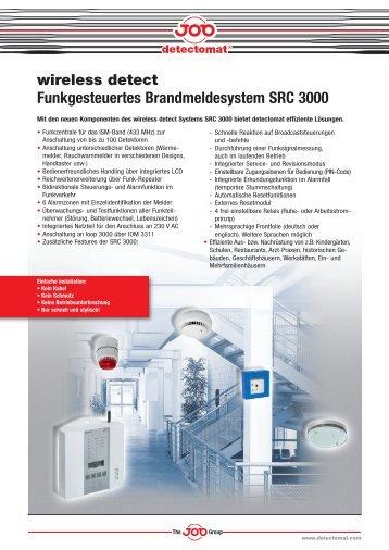 wireless detect Funkgesteuertes Brandmeldesystem SRC 3000