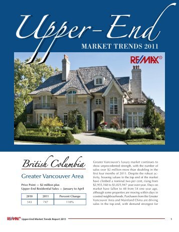 remax upper end market trends 2011 - RE/MAX Realtron Realty Inc ...