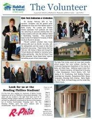 April 2012- The Volunteer - Habitat for Humanity of Berks County