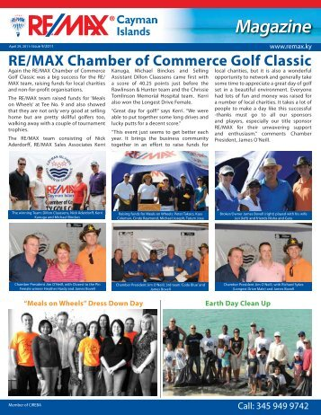 Magazine Issue 9- ( 28th April, 2011) - RE/MAX Cayman Islands
