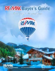 RE/MAX Sea to Sky Real Estate Whistler - Buyer's Guide
