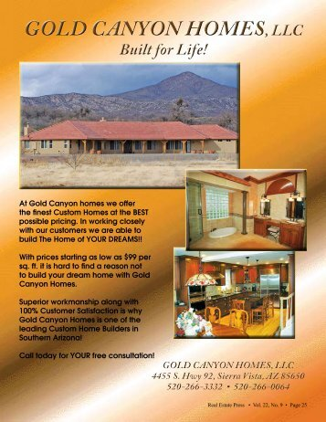 gold canyon homes, llc gold canyon homes, llc - Real Estate Press ...