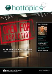 REAL ESTATE'S TOP LEADERS - Hot Topics, Real Estate Academy