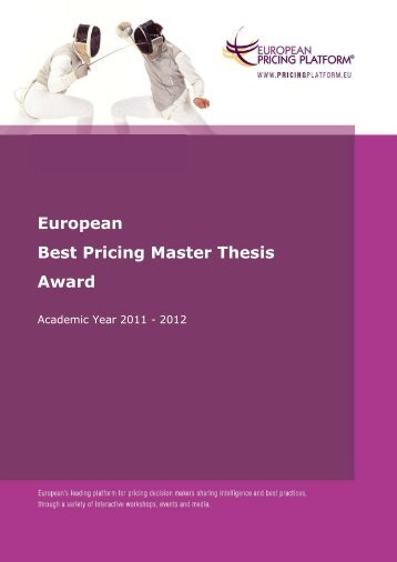 European Best Pricing Master Thesis Award