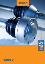 workshop brochure_gb_spidan.indd - GKN Aftermarkets & Services