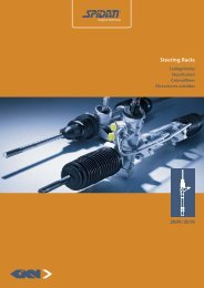 Steering Racks - GKN Aftermarkets & Services