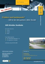 Ny adress! - GKN Aftermarkets & Services