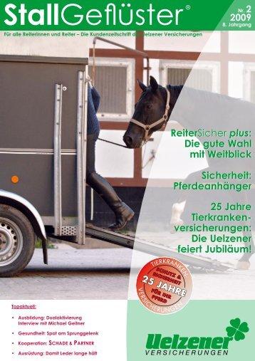 Pferdeanhänger 25 Jahre Tierkranken - Uelzener Versicherungen