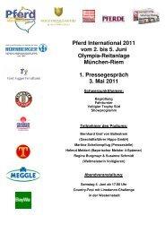 Pressemappe 1.PK Pferd International 2011