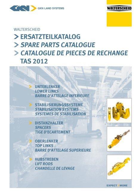barre d'attelage suPerieure hydrauliQue - GKN Walterscheid GmbH