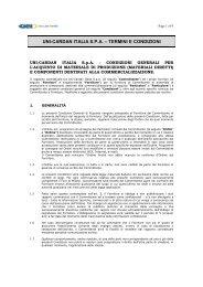 UCI Condizioni generali d'Acquisto DRAFT_rev 2012