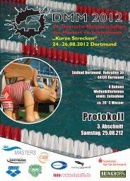 Protokoll Abschnitt 3 - 44. Deutsche Meisterschaft - Kurze Strecken