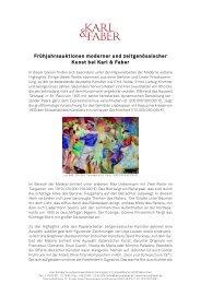 Von Neuer Sachlichkeit bis Post-Avanguardia - Karl & Faber