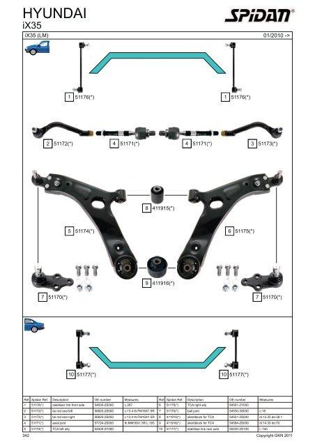 Spidan 03 2012 Steering Parts