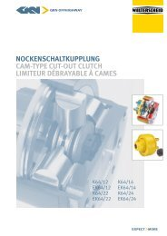 NockeNschaltkuppluNg cam-type cut-out clutch limiteur débrayable ...
