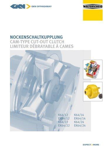 NockeNschaltkuppluNg cam-type cut-out clutch limiteur débrayable ...
