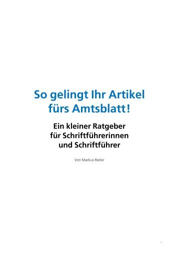 So gelingt Ihr Artikel fürs Amtsblatt! - Stadt Gernsbach