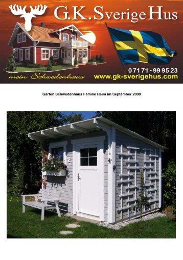 Garten Schwedenhaus Familie Heim im September 2008