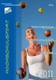 Ausgabe 1/2011 - Allgemeiner Deutscher Hochschulsportverband