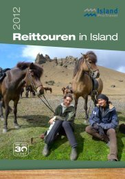 Reittouren in Island 2012 - Island ProTravel
