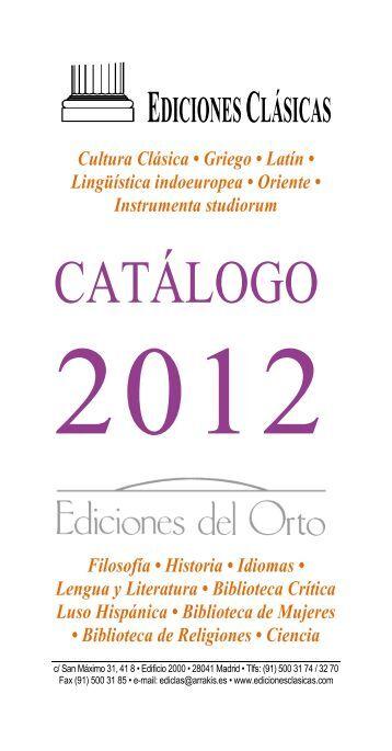 catálogo 2012 - Ediciones Clásicas