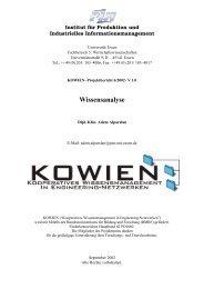 Wissensanalyse - Institut für Produktion und Industrielles ...