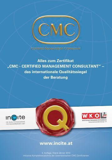 """""""Certified Management Consultant"""" (CMC) - Incite"""