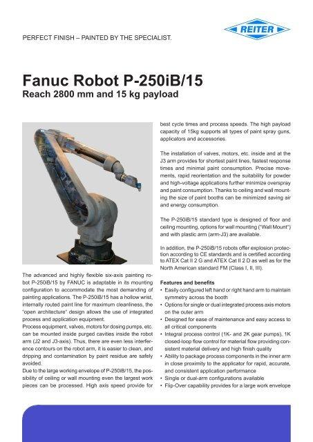 FANUC Robot P-250iB/15 (pdf) - reiter-oft de