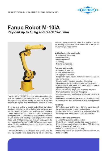 FANUC Robot M-10iA (pdf) - reiter-oft de