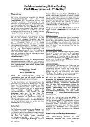 """Verfahrensanleitung Online-Banking PIN/TAN-Verfahren mit """"VR ..."""