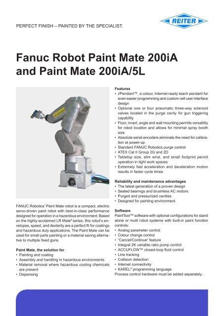 Fanuc Robot Paint Mate 200iA and Paint Mate 200iA/5L