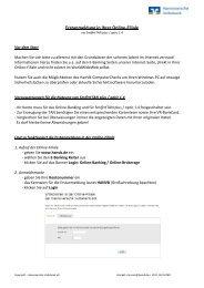 Erstanmeldung in Ihrer Online-Filiale - Hannoversche Volksbank eG