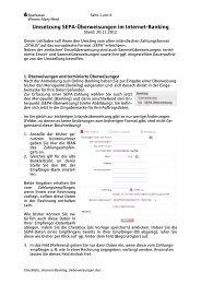 Umsetzung SEPA-Überweisungen im Internet-Banking - Sparkasse ...