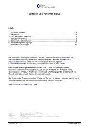 Leitfaden DFÜ-Verfahren EBICS.pdf - Bank für Sozialwirtschaft