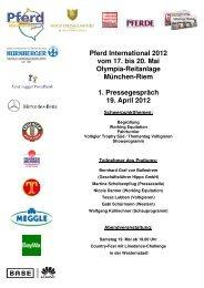 Pferd International 2012 vom 17. bis 20. Mai Olympia-Reitanlage ...