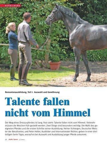 lesen Sie den ganzen Artikel! (.pdf-Format) - Reiter Revue ...