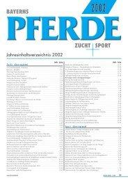 Jahresinhaltsverzeichnis 2002