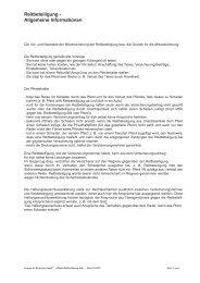 Reitbeteiligung - Allgemeine Informationen