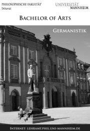 Germanistik - Bachelor - Universität Mannheim