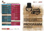 Programm Music Friday - Stadtgemeinde Kapfenberg