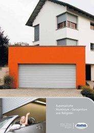 Automatische Aluminium - Garagentore und Rollgitter
