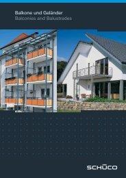 Balkone und Geländer Balconies and Balustrades - Schüco