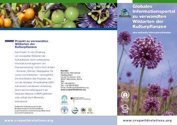 Globales Informationsportal zu verwandten Wildarten der ... - Genres