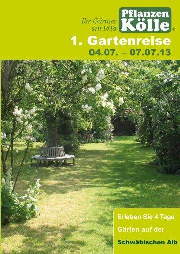 1. Gartenreise - Pflanzen Kölle