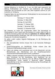 Kultur-Leistungsvereinbarung mit Stiftung ... - Walkringen