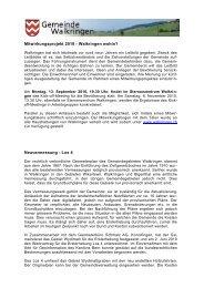 Infos September 2010 - Walkringen